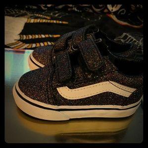 ⚡Toddler Black Metallic Sparkly Vans Shoes ⚡